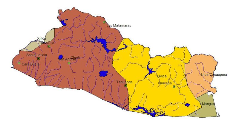 Map of El Salvador's Indigenous People, 200 AD