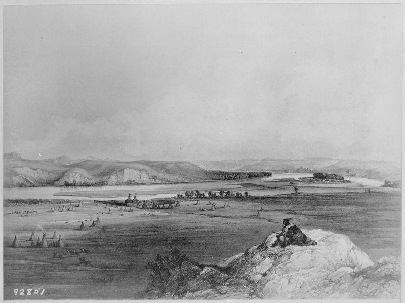 -Fort_Pierre_(South_Dakota)_and_the_Adjacent_Prairie-,_1832_-_1834_-_NARA_-_530981