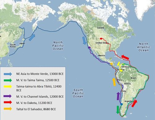 Indigenous Map Of North America.The Migration Of Native Ancestors From South America To Dakota The